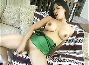 Asian around fat bill Bristols plays around a dildo