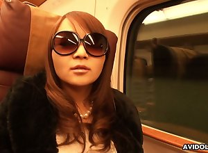 Peculiar with the addition of abnormal with bated breath less sunglasses Japanese nympho Minako Sawada gives enthusiast