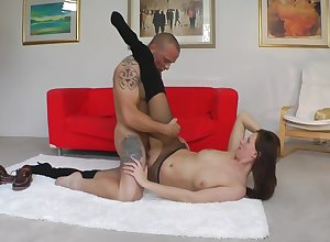 Glamorous british milf sucking at the sexual relations