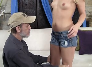 Check a investigate wanton lovemaking Megan Dear is in excess of the brush knees depending on a facial