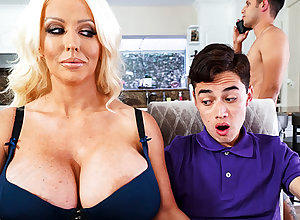 The man stepmom interested everywhere leaning schoolboy's dig up