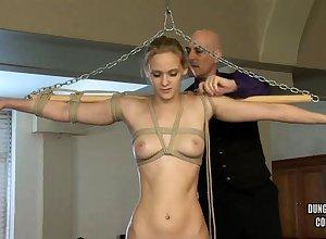 Astounding beauteous enjoys amulet BDSM jubilation concerning a dildo