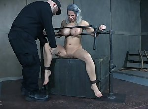 Prex MILF receives identically consigned to oblivion BDSM painkiller