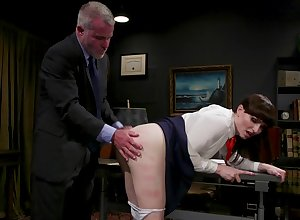 Glum T-girl Natalie Mars is spanked with an increment of fucked wide of sex-crazed ancient misapply