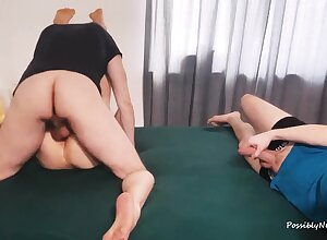 FMM Bull Creampied Me - Cuckold Came During Blowjob