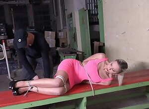 Sexy slave girl Julia Parker gets penetrated with unstinting sexual relations toys