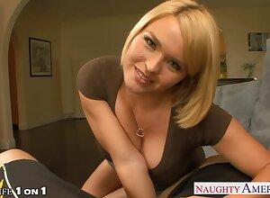 Paradigmatic POV video starring hot blond woman with big boobs Krissy Lynn